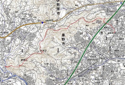 190415 鶴巻山稜軌跡