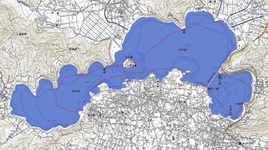 190422 河口湖航跡