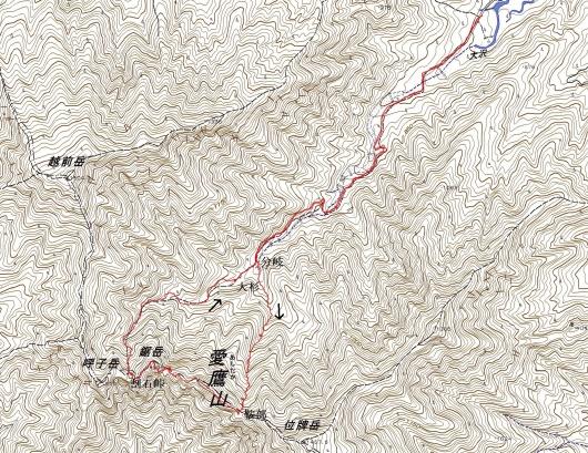 190509 鋸岳軌跡
