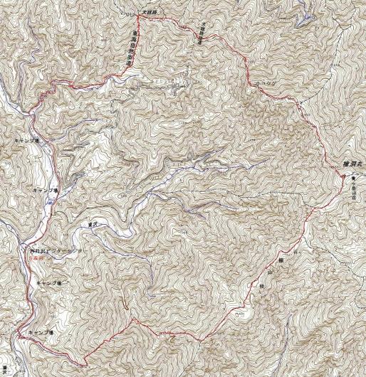 190614 檜洞丸石棚山稜軌跡