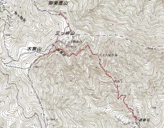 190618 三つ峠軌跡