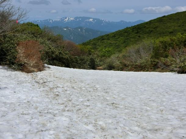 雪渓と焼石 - コピー