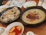 ⑯夕食地鶏おこげ鍋