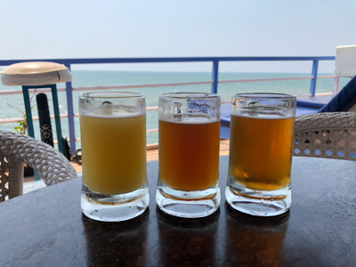 ゴアクラフト3種(Tropical Wheat & Dorado-Pale-Ale & Seasonal-Rotational Brew)