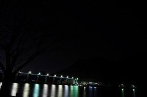船明ダム 夜景 桜