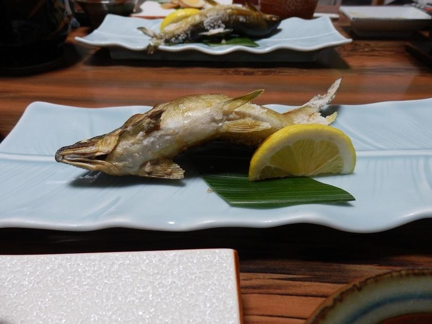 夕食会席 鮎の塩焼き