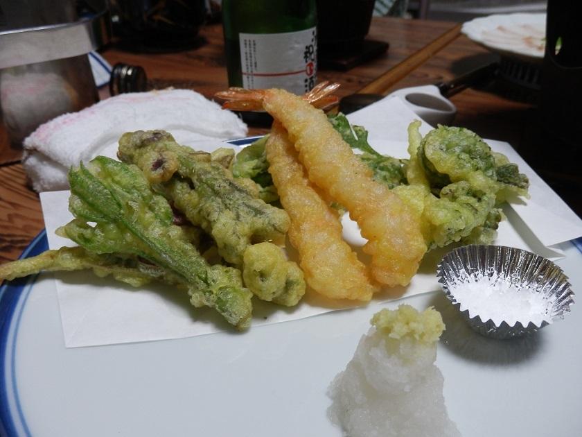 夕食会席 天ぷら