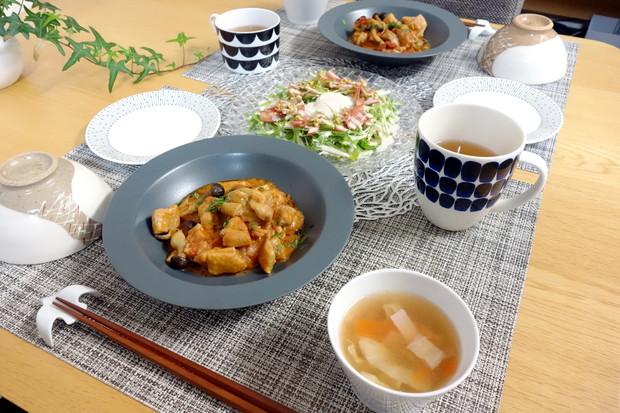 ENAパスタプレート・鶏もものトマト煮込み・ナハトマン・料理①