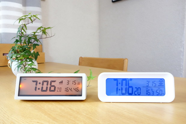 ニトリ・電波デジタル時計 ファシル・無印・電波時計②