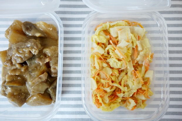 セリア・とにかく洗いやすい保存容器・常備菜①