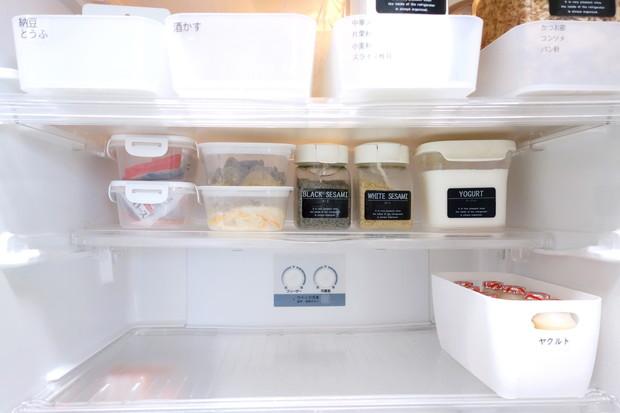 セリア・とにかく洗いやすい保存容器・冷蔵庫・冷蔵室下段①