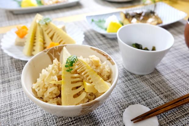 白山陶器・筍ごはん・料理①