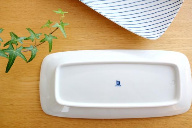 白山陶器・重ね縞 長焼皿②