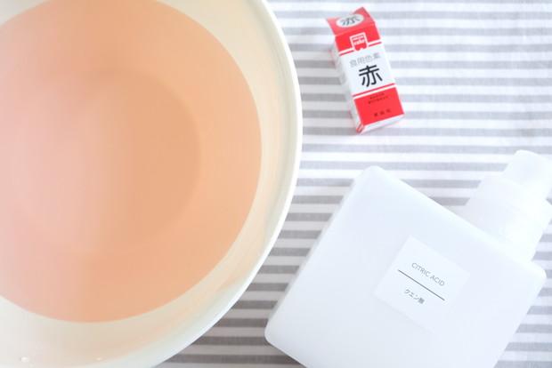 クエン酸液・食紅・製氷機掃除①