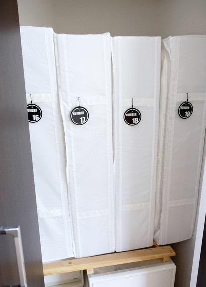 寝室・IKEA・SKUBB・収納ボックス・ラベリング・布団収納③