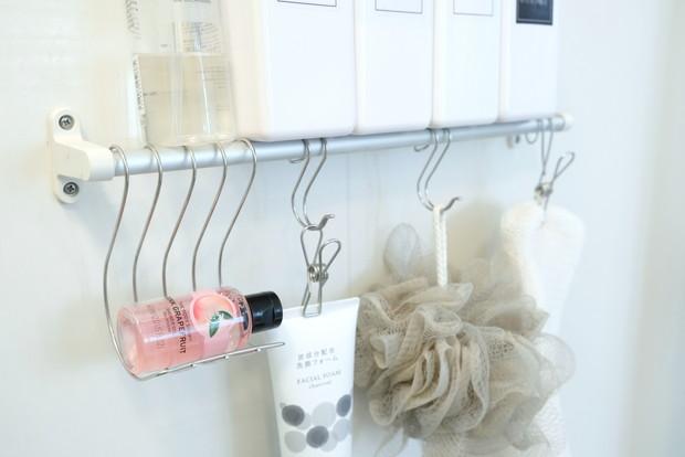 セリア・ハンギング ステンレスソープホルダー・浴室①