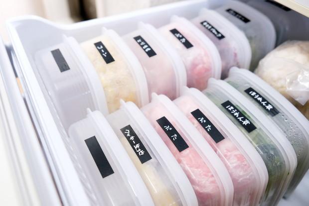 セリア・しっかりパック・冷蔵庫・冷凍室・下段①
