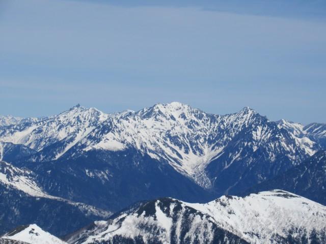 4月22日 奥穂高岳と吊尾根と前穂高岳