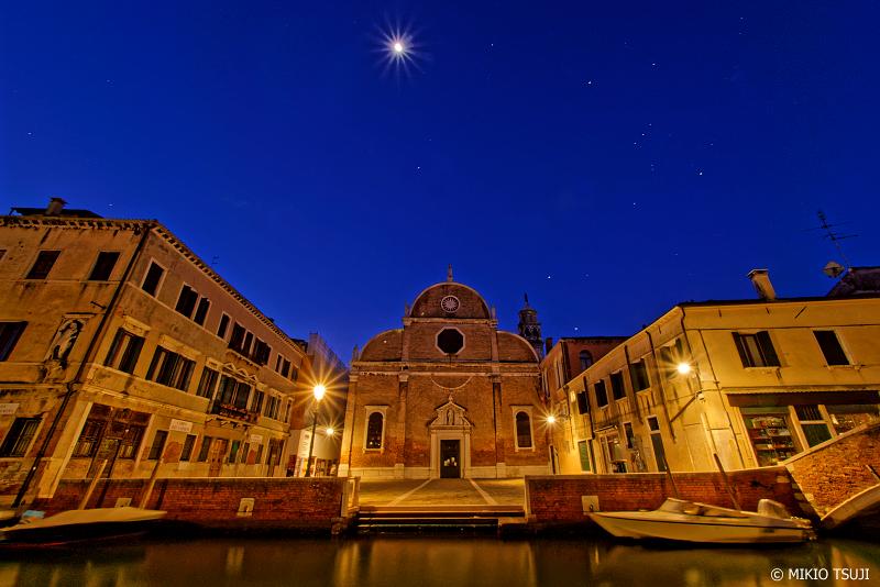 絶景探しの旅 - 0932 夜明け前のサンタ・マリア・デイ・カルミニ教会 (イタリア ベネチア)