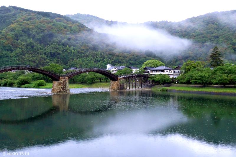 絶景探しの旅 - 0978 雨の錦川の風景(山口県 岩国市)