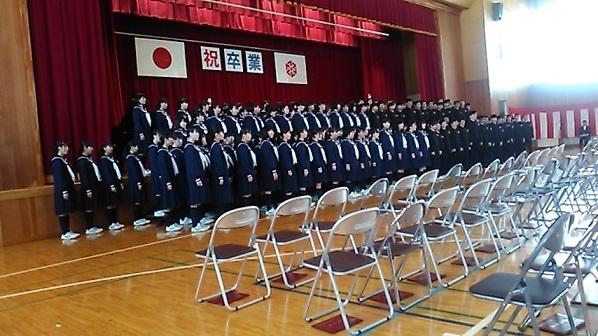 2019墨坂中学校卒業式