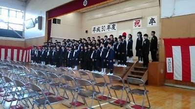 2019年森上小学校卒業式 合唱